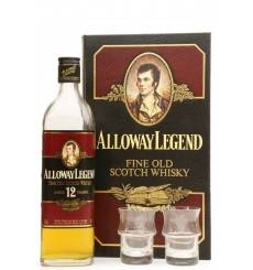 Alloway Legend 12 Years Old - Gift Set with 2 Glasses