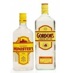 Gordon's London Dry Gin (1Litre) & Minister's Gin (70cl)
