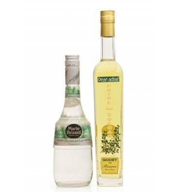 Poire Au Cognac Godet Reserve & Marie Brizard Romarin Liqueur (2x50cl)