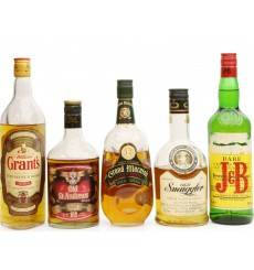 Assorted Full Size Blended Whisky X5