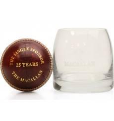 Macallan Glass & Cricket Ball