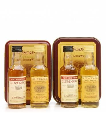 Glenmorangie Port Wood Finish & 10 Years Old Miniatures in Tin X2