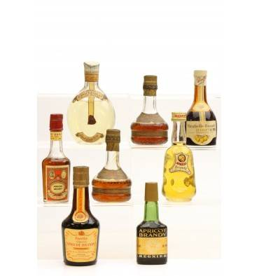 Assorted Apricot Brandy Miniatures X8