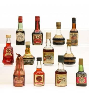 Assorted Cherry Brandy Miniatures X12