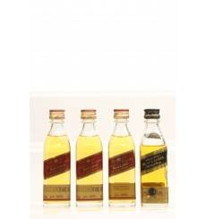 Johnnie Walker Red & Black Label Miniatures X4