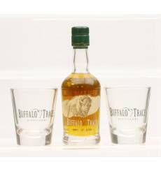 Buffalo Trace Miniature & 2 Shot Glasses
