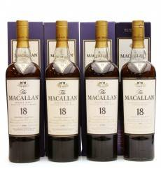 Macallan 18 Years Old 1986, 1987, 1988 & 1989 (4x 70cl)