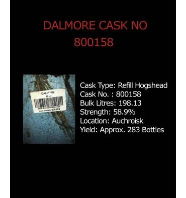 Dalmore Cask No. 800158 - Refill Hogshead - Held in Bond