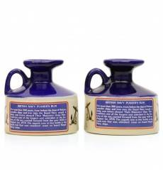 British Navy Pusser's Rum Miniature Decanter X2