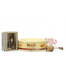 Bell's Memorabilia Inc Ashtray, Playing Cards & Pourer