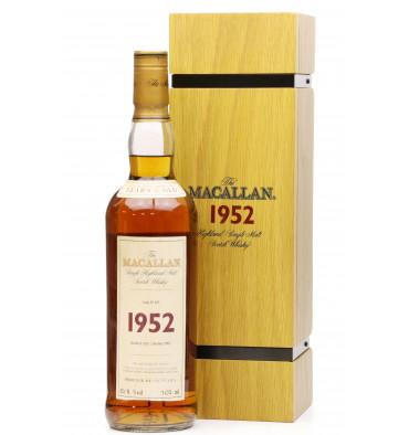 Macallan 50 Years Old 1952 - Fine & Rare Cask No. 627