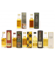 Assorted Miniatures x 7 Incl Springbank 15 Year Old