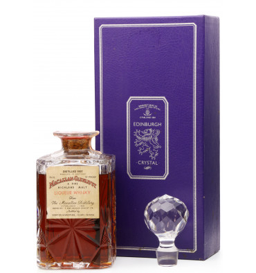 Macallan-Glenlivet 1937 - G&M Edinburgh Crystal Decanter