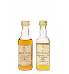 Macallan 8 & 16 Years Old Miniatures (2x5cl)