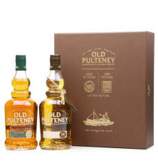 Old Pulteney 21 Years Old & 1989 Vintage - Limited Edition Set (2x70cl)