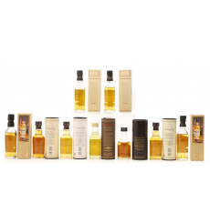 Assorted Blended Miniatures x 9 inc Balvenie 15 years old Single Barrel