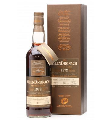 Glendronach 38 years Old 1972 - Single Cask No.718