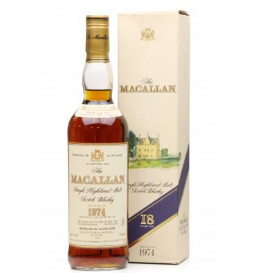 Macallan 18 Years Old 1974 - Paris Import