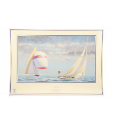 'Historic Moment' Print & 'The Race for the America's Cup'