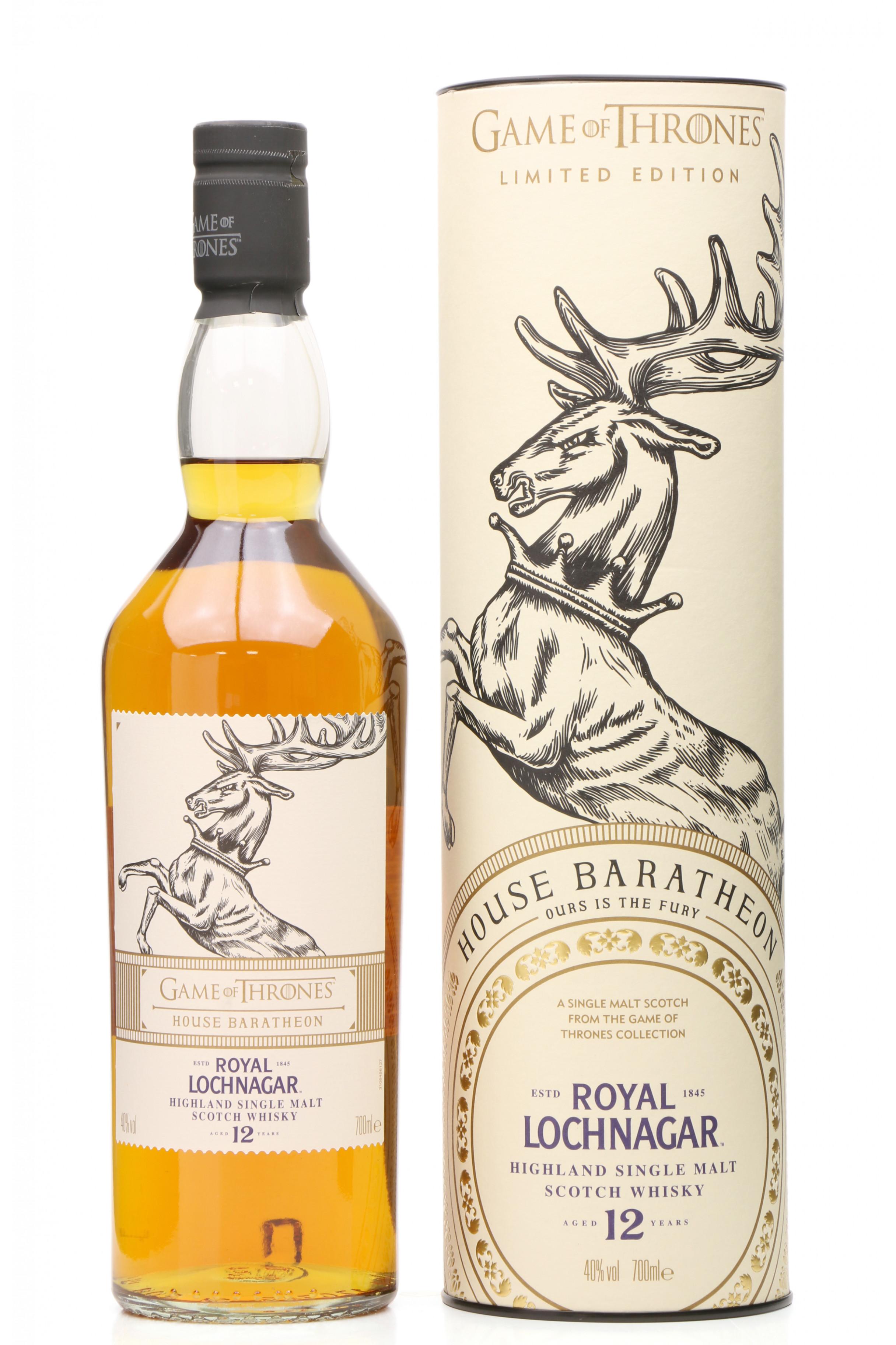 Limited Edition Game of Thrones Whisky Bottle EMPTY Royal Lochnagar Baratheon