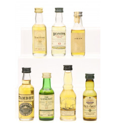 Assorted Miniatures X7 Incl Glenlivet 12 Year Old