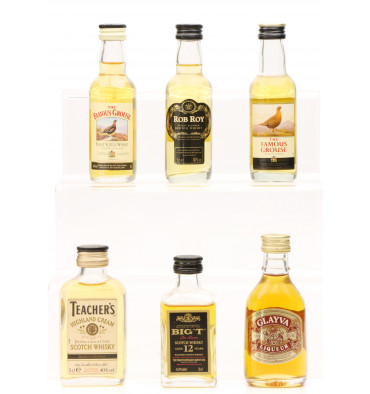 Assorted Miniatures X6 Incl Tomatin Big T 12 Years Old