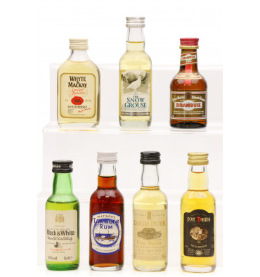 Assorted Blended Miniatures X7 Incl Black & White