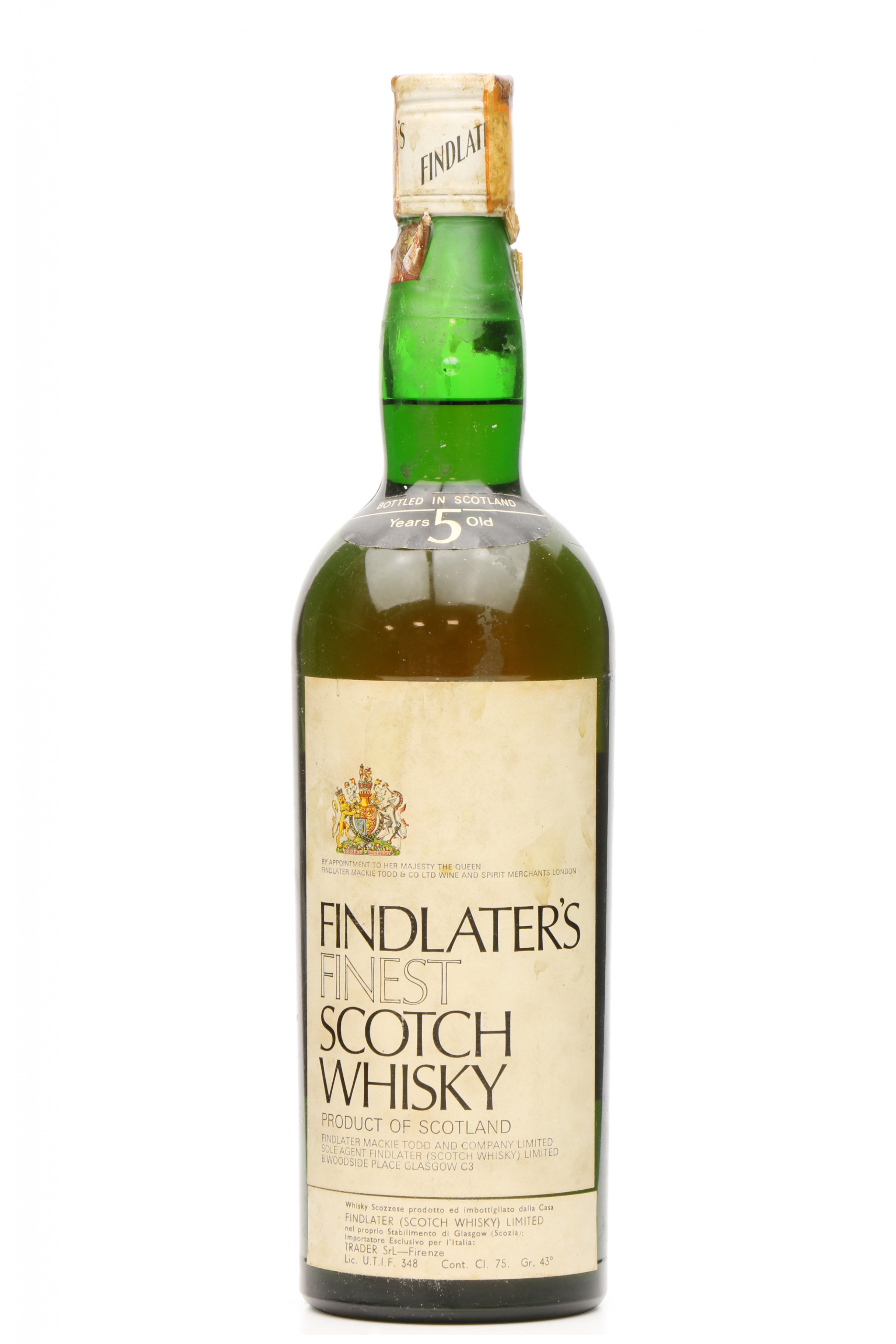 Findlater's 5 Years Old - Scotch Whisky - Just Whisky Auctions