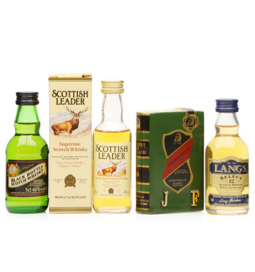 Assorted Blended Miniatures X4 Incl Langs 12 Years Old