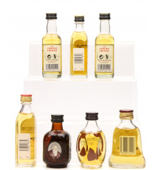 Assorted Miniatures X7 Incl Old Parr 12 Years Old