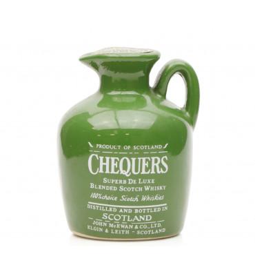 Chequers Super Deluxe Ceramic Miniature (70° Proof)