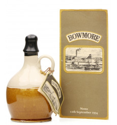 Bowmore 1955 - 1974 Visitor Center Opening Ceramic Decanter With Queen's Menu