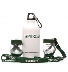 Laphroaig Memorabilia Glasses and Water Bottle