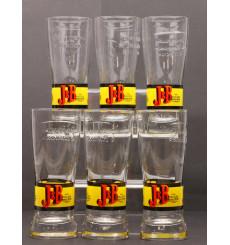 6 J&B Glasses
