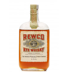 Rewco Rye Whiskey 1916 - 1930's - 100 Proof (1 US Pint)
