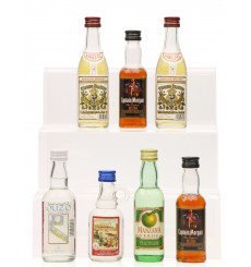 Assorted Spirits including Ouzo (7x5cl)