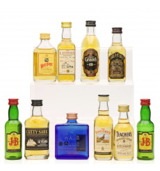 Assorted Scotch Whisky Miniatures including Cutty Sark 12 Years Old (10x 5cl)