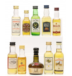 Assorted Scotch Whisky Miniatures including White Horse (10x5cl)