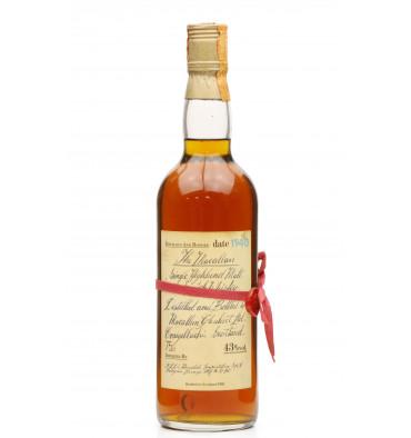 Macallan 1940 Handwritten Label - 1981 Rinaldi Import (75cl)