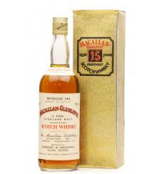 Macallan-Glenlivet 15 Years Old 1961 - Pineroli Import (75cl)