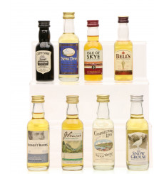8 Assorted Scotch Whisky Miniatures including Campeltown Loch (8 x5cl)