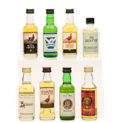 8 Assorted Scotch Whisky Miniatures including Black Grouse (8 x5cl)