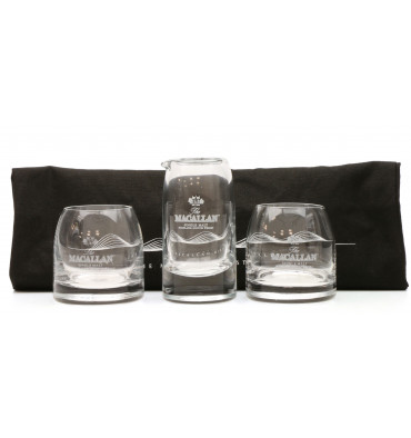 Macallan Glasses, Water Jug & Genesis Tote Bag