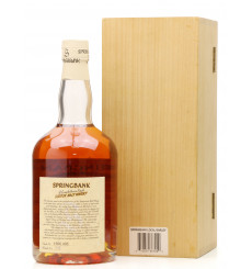 Springbank 1966 - 1998 Local Barley Bourbon Wood (Cask No.495)