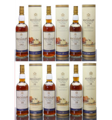 Macallan 18 Years Old 1981,1982,1983,1984,1985,1986