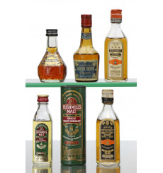 Assorted Irish Whiskies / Liqueur Miniatures x5