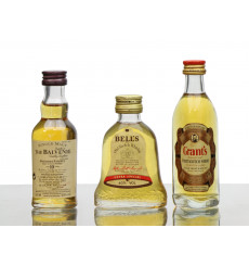 Assorted Miniatures x 3 (Inc. Balvenie 10 Years Old)