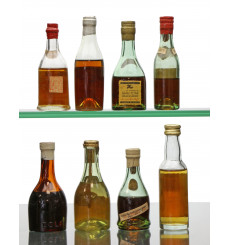 Assorted Cognac/Armagnac Miniatures X8