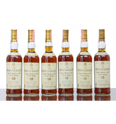 Macallan Wooden Case Including 3 x Macallan 10 Years Old & Macallan 12 Years Old