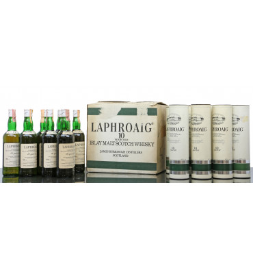 Laphroaig 10 Years Old 'Unblended' - Pre Royal Warrant Italian Import (12 x 75cl)